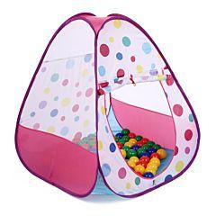 Детская палатка Bony Треугольник большой с шарами (Розовый)