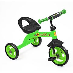 Трехколесный велосипед Ника Детям City trike СТ-13 с ПВХ-колесами (Зеленый)