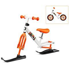 Беговел Small Rider Combo Racer 2017 с лыжами (бело-оранжевый)