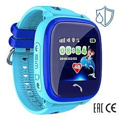 Детские часы с GPS-трекером SmartBabyWatch W9 (голубые)