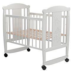 Кроватка детская Valle Cat (качалка-колесо) (белый)