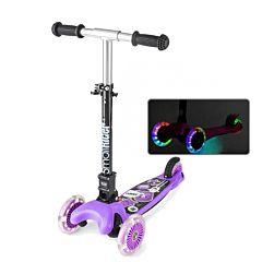 Самокат Small Rider Randy Flash со светящимися колесами и регулировкой руля (фиолетовый)