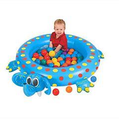 Сухой надувной бассейн Upright Слоненок с шарами