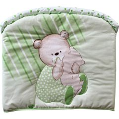 Бампер для кроватки Золотой Гусь Мишутка (зеленый)