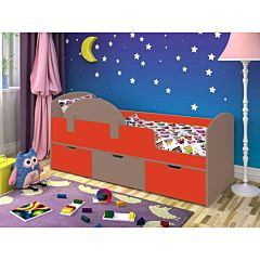 Кровать детская Ярофф Малыш Мини (бодего темный/красный)