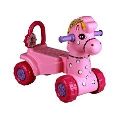 Каталка Plast Land Лошадка (розовая)