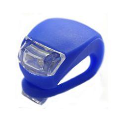 Фонарик-мигалка на руль (синий)