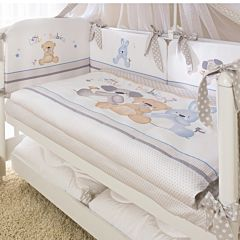 Комплект постельного белья Perina Венеция Три друга (3 предмета, хлопок/сатин)