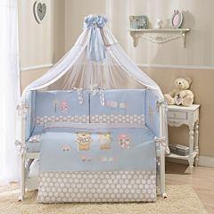 Комплект постельного белья Perina Венеция 105х170см (7 предметов, сатин) (голубой)