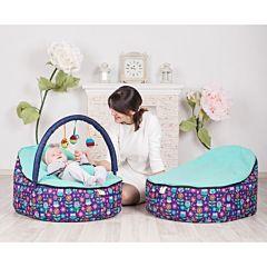 Кокон для новорожденных Feter Baby Bean Bag с игрушками (бирюзовый)