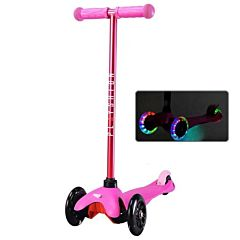 Самокат Playshion Mini Kids FS-MS001L со светящимися колёсами (Розовый)