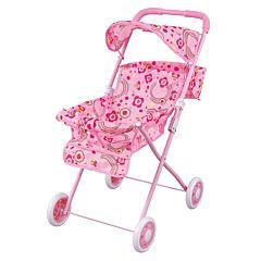 Коляска для куклы Fei Li Toys трость (розовая) FL729
