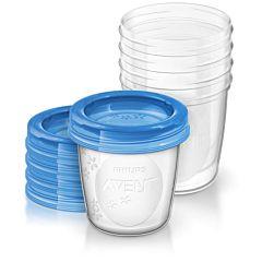 Набор контейнеров Philips AVENT для хранения продуктов 5х180 мл SCF619