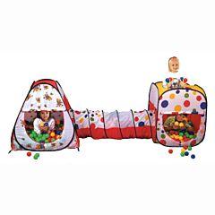 Детская палатка Calida с шарами Конус и Квадрат + тоннель