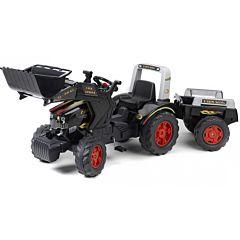 Трактор-экскаватор педальный Falk с прицепом и ковшом (черный)