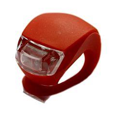 Фонарик-мигалка на руль (красный)