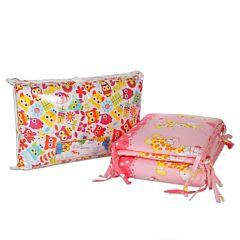 Бампер для кроватки Baby Care на молнии 38х360см (розовый)