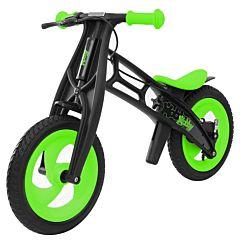Беговел Hobby Bike FLY B (шины - волна) (зеленый/черный)