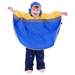 Дождевик детский Чудо-Чадо Светлячок (р.122-128) (Синий-желтый)