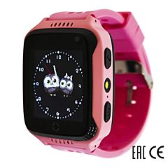 Детские часы с GPS-трекером SmartBabyWatch G100 (розовые)