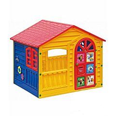 Игровой домик Palplay Plast 362 Белка и Стрелка (Желтый)