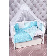 Комплект постельного белья из бязи AmaroBaby (18 предметов) Royal Baby бирюзовый