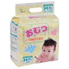 Подгузники Omutsu M (6-11 кг) 26 шт