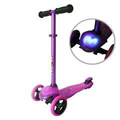 Самокат Explore Tris со светящейся платформой (фиолетовый)