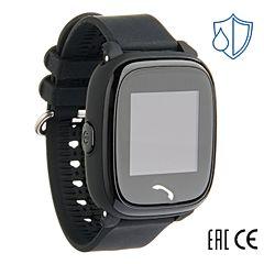 Детские часы с GPS-трекером SmartBabyWatch W9 (черные)