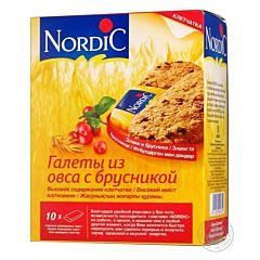 Галеты Nordic из овса с брусникой 300 г