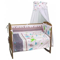 Комплект постельного белья Polini 120х60см (7 предметов, хлопок) (монстрики)