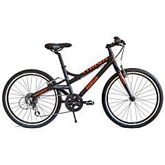 """Подростковый велосипед Kokua LiketoBike-24 Special Model Black 24"""" (черный/оранжевый)"""