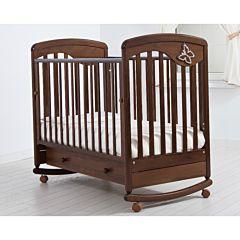 Кроватка детская Гандылян Джулия (качалка-колесо) (орех)
