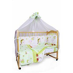 Комплект постельного белья AmaroBaby (7 предметов) Мишкин Сон зеленый