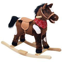 Лошадка-качалка BabyMix Oscar с платком (темная)