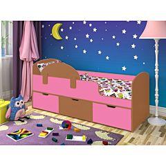 Кровать детская Ярофф Малыш Мини (вишня оксфорд/розовый)
