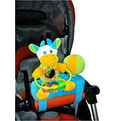 Развивающая игрушка на бампер коляски I-Baby Друзья Коровка