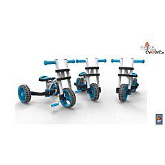 Беговел-трансформер Y-Bike Evolve Trike (сине-белый)