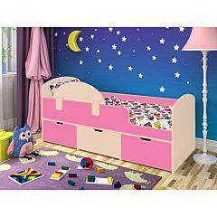 Кровать детская Ярофф Малыш Мини (дуб молочный/розовый)