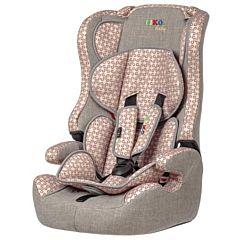 Автокресло Liko Baby LB-513 C (серый/бежевый принт)