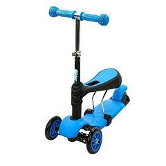 Самокат-каталка Y-bike Glider Seat (голубой)