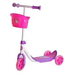 Самокат с корзинкой Moby Kids Кроха (Розовый)