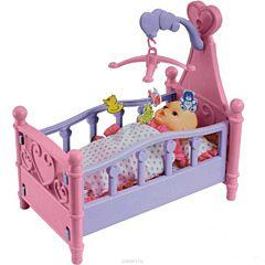 Игровой набор Xiong Cheng Кроватка для кукол с мобилем