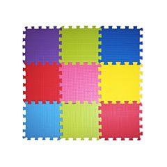 Мягкий пол Babypuzz Разноцветная полянка 33*33*1