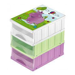 Комод для хранения игрушек OKT Бегемотик