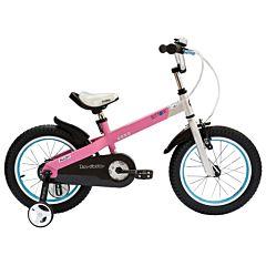 """Детский велосипед Royal Baby Buttons Alloy 14"""" (розовый/серебро)"""