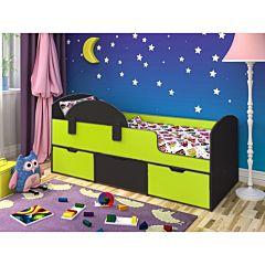 Кровать детская Ярофф Малыш Мини (венге темный/лайм)