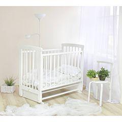 Кроватка детская Можга Марина с декором (поперечный маятник) (белый)