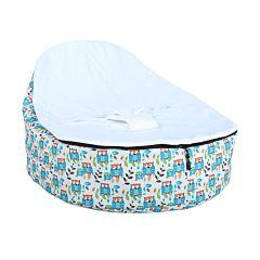 Кокон для новорожденных Feter Baby Bean Bag M до 30 кг (белый с принтом)