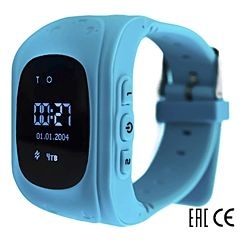 Детские часы с GPS-трекером SmartBabyWatch Q50 (голубые)